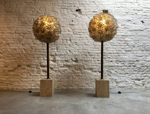Die-Firma-vintage-shop-Antwerp-capiz-mother-of-pearl-floorlamp