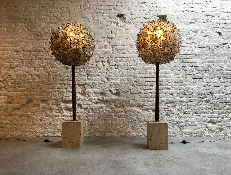 Die-Firma-vintage-shop-Antwerp-capiz-mother-of-pearl-floorlamp