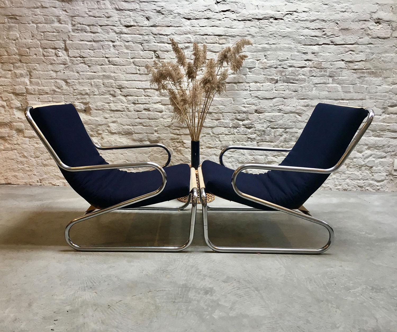 Die-Firma-vintage-shop-Antwerp-midcentury-tubular-lounge-chair