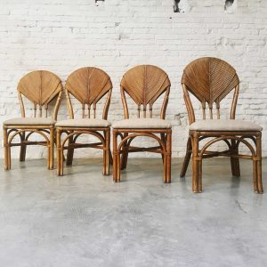 Set 4 Palm Leaf Chairs