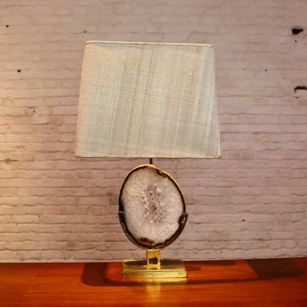 Die Firma vintage shop Antwerp Agaat lamp Willy Daro Messing frame