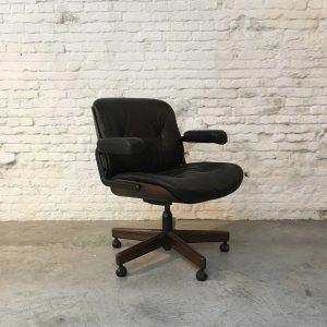 Zwart Lederen Bureaustoel – Martin Stoll voor Giroflex