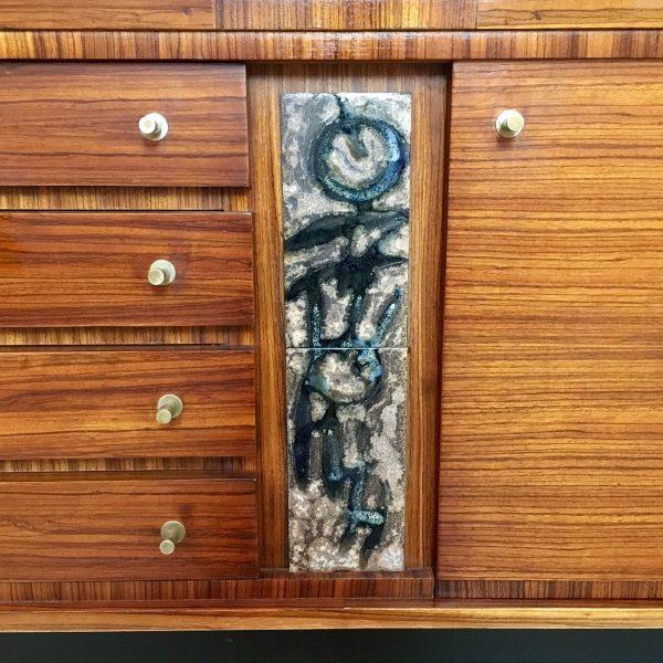 Die Firma vintage shop Antwerp sideboard in zebrahout Pieter De Bruyne