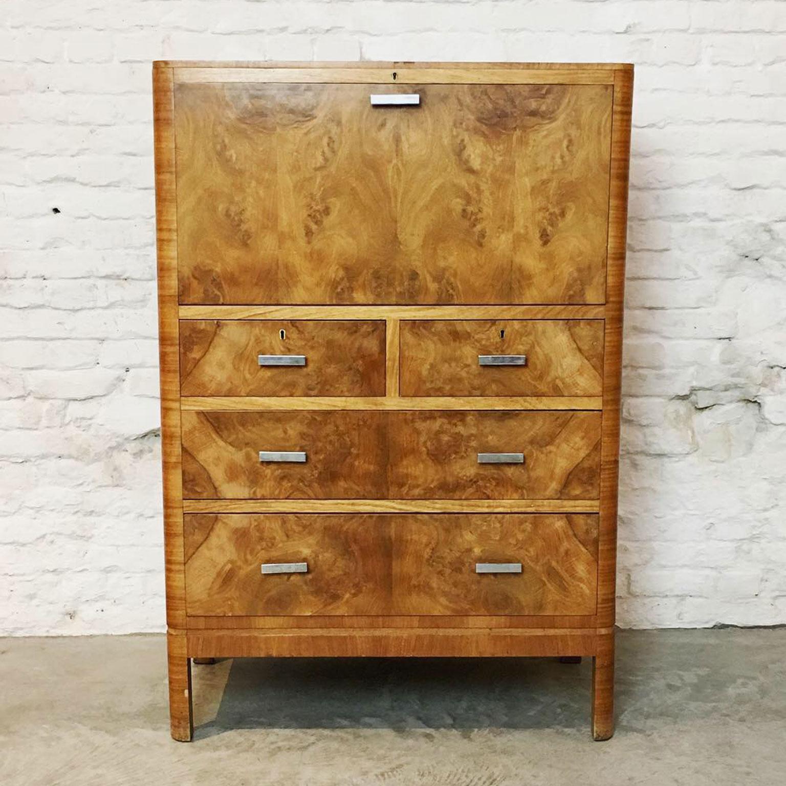 Die-Firma-vintage-shop-Antwerp-art-deco-secretaire-Heal's-of-London