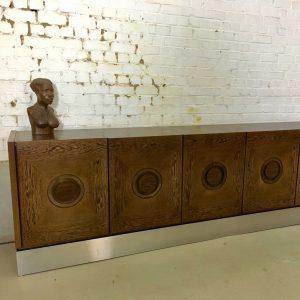 Vintage Brutalist Sideboard
