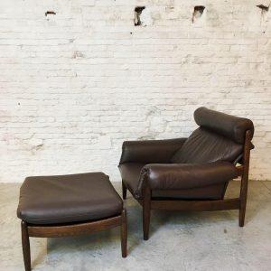 Vintage Durlet Fauteuil & Hocker